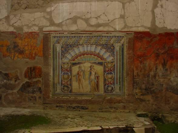 Roman Mural Inside Home - Herculaneum