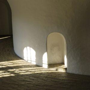 Danemark, Copenhague, rampe circulaire à l'intérieur de la Rundetårn, la tour ronde construite en 1642 par Christian IV