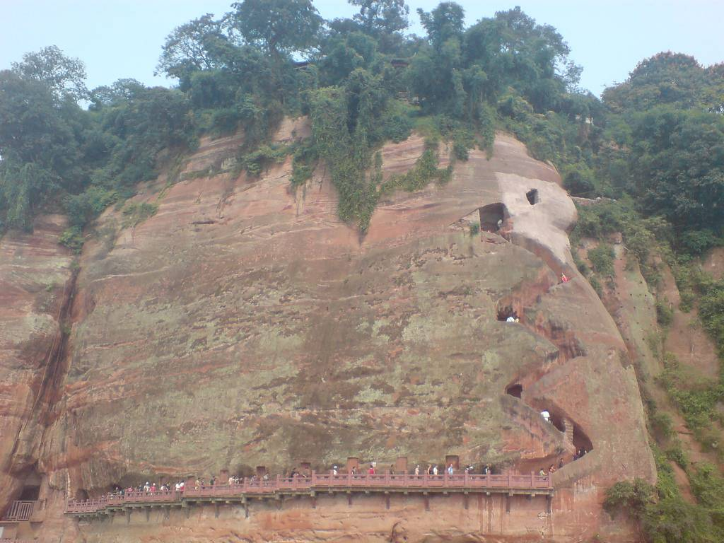 Dafo's cliff face