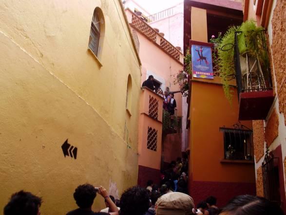 El Callejón del Beso en Guanajuato, México