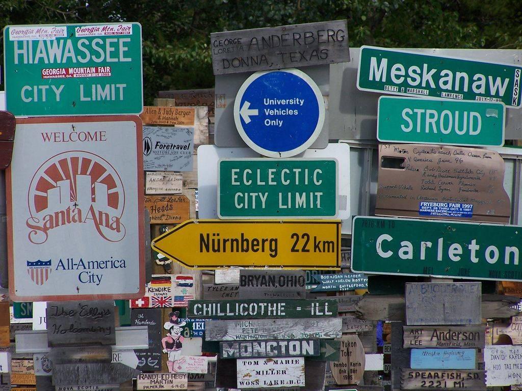 Signpost Forest, Watson Lake, Yukon