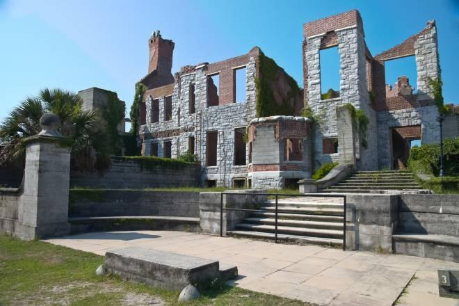 Las ruinas de la isla de Cumberland