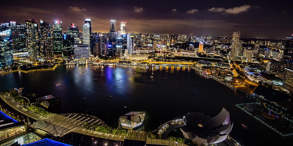 View from Marina Bay Sands - 10 de los mejores lugares para viajar en 2018