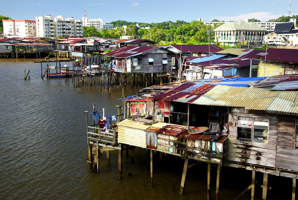 Village on the water Brunei.