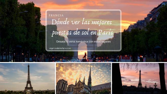 ¡Dónde ver las mejores puestas de sol en París!
