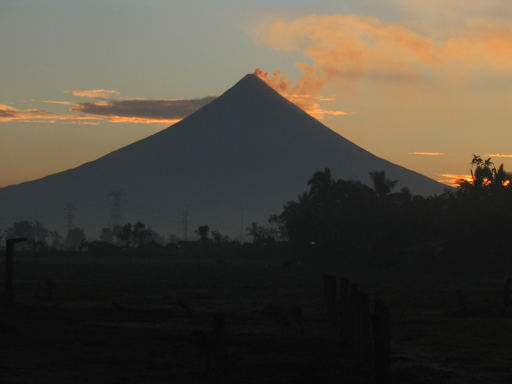 different angles of Mayon volcano