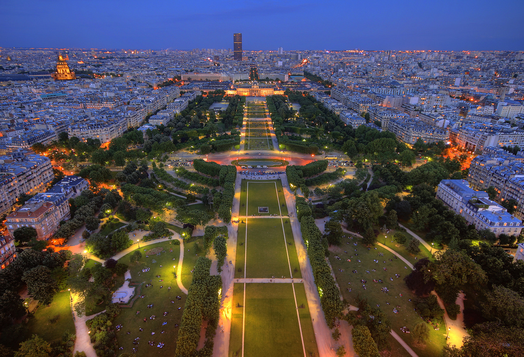 Paris - View of the Champ de Mars from the Eiffel Tower