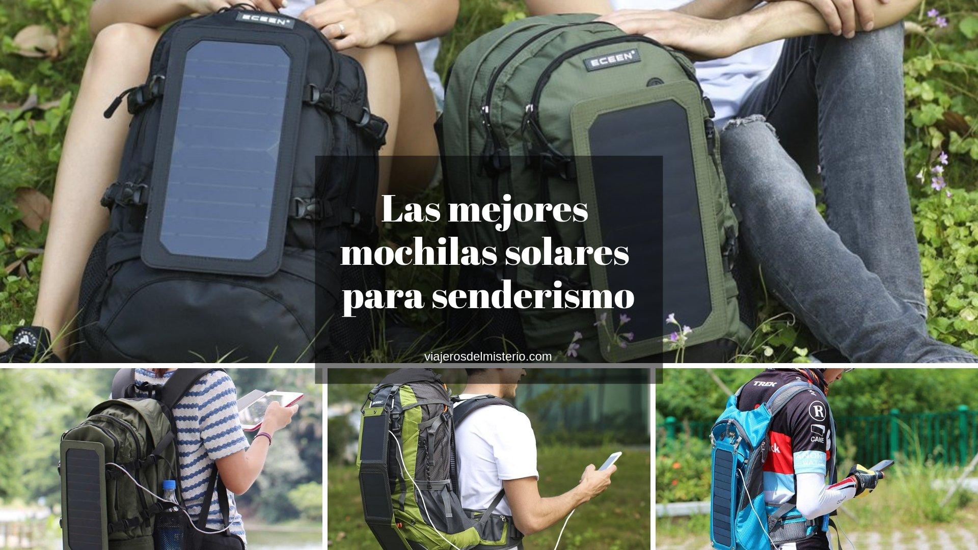 Las mejores mochilas solares para senderismo