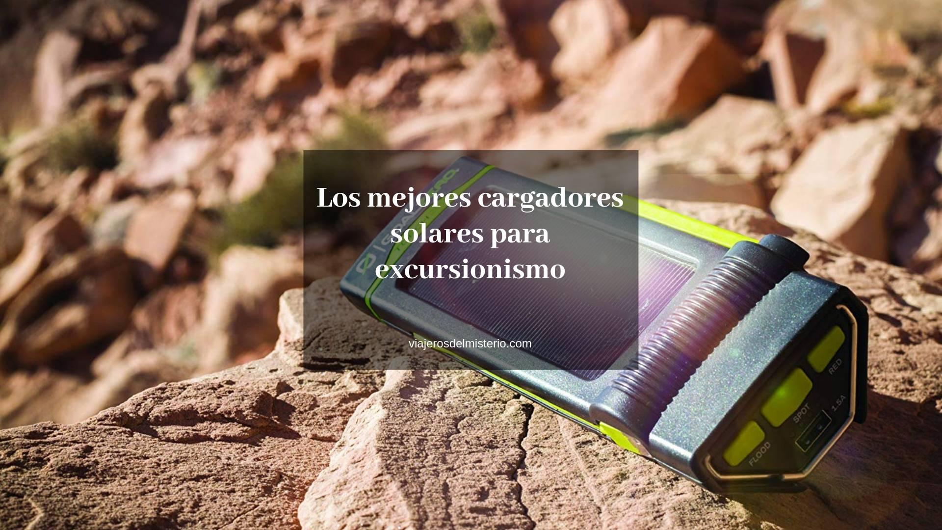 Los mejores cargadores solares para excursionismo