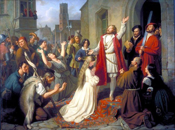 Jaulas colgantes de la iglesia de San Lamberto en Münster - La rebelión de Münster