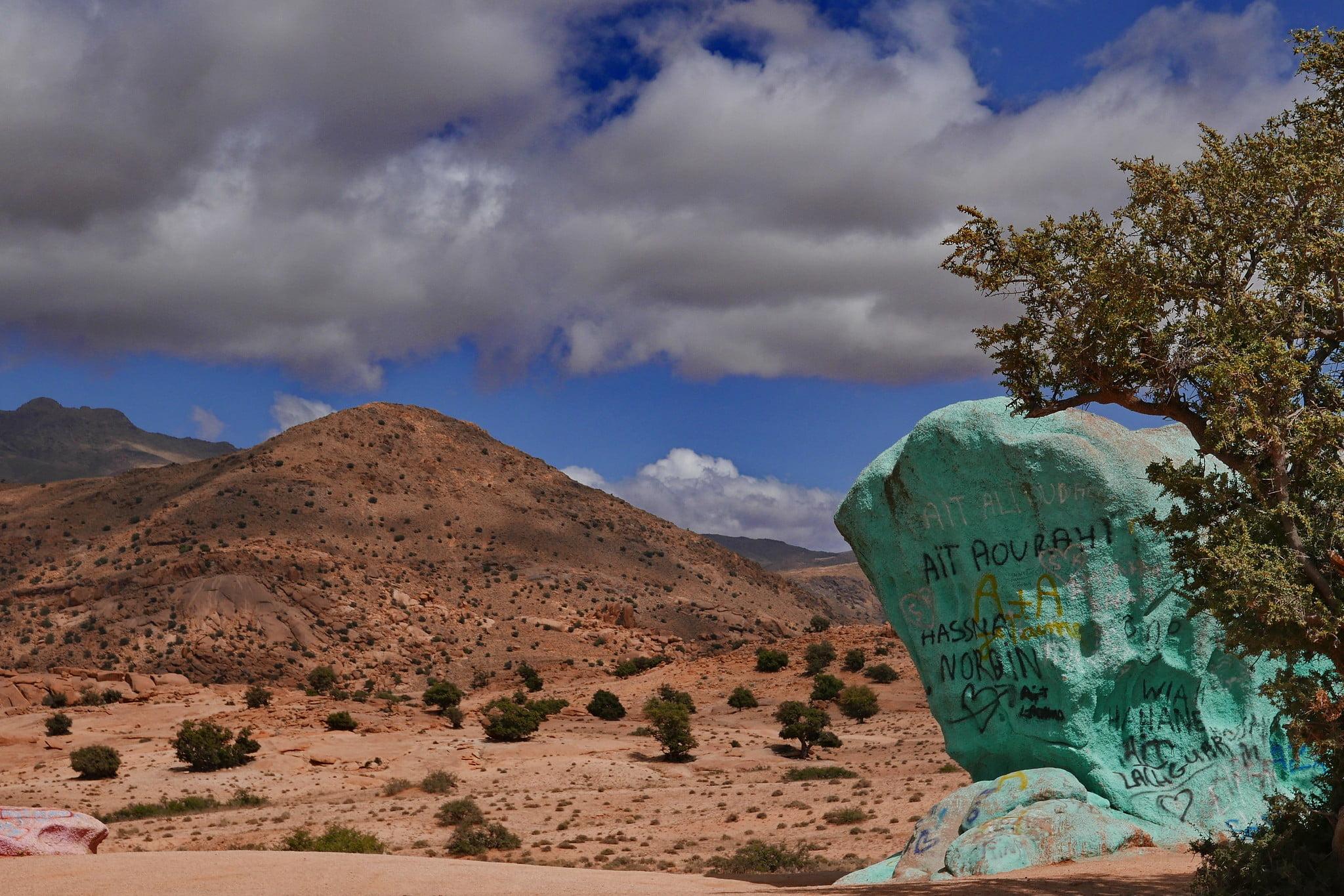 Les Roches Peintes de Trafraout, Marruecos 1